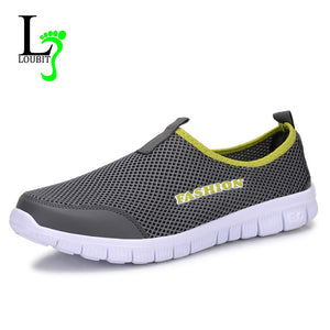 Men Shoes 2017 Summer Shoes Light Comfortable Men Casual Shoes Mesh Breathable Loafers Footwear Plus Size 38-46