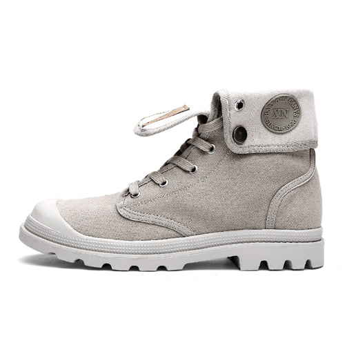 ODMORP Winter Boots Men Canvas Shoes Men Ankle Boots Winter Warm Fur Inside Casual Shoes Men Botas High Quality Autumn Men Shoes
