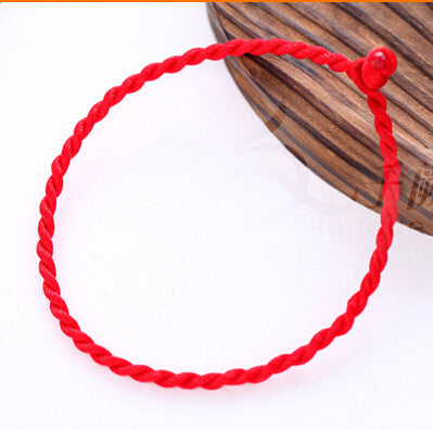 2 pc/lot Red hand-woven wholesale DIY red rope benmingnian rope bracelet fashion bracelets for women and men