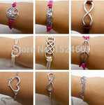 2014 Multilayer Braided Bracelets Vintage Owl Harry Potter Wings Bracelet Multicolor Woven Leather Bracelet & Bangle