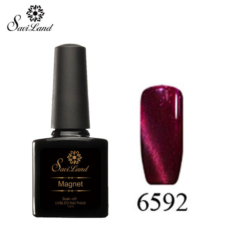 Saviland 3D Magnet UV Nail Gel Polish Cat Eye Colors Manicure Cat Colors 10ml Healthy and Eco-friendly Gel Lacquer Best On Ali - Cerkos  - 6