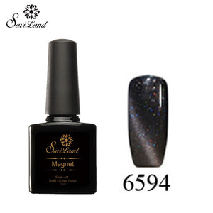 Saviland 3D Magnet UV Nail Gel Polish Cat Eye Colors Manicure Cat Colors 10ml Healthy and Eco-friendly Gel Lacquer Best On Ali - Cerkos  - 26