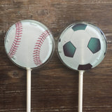 Soccer and Baseball Party Favor Lollipop Suckers