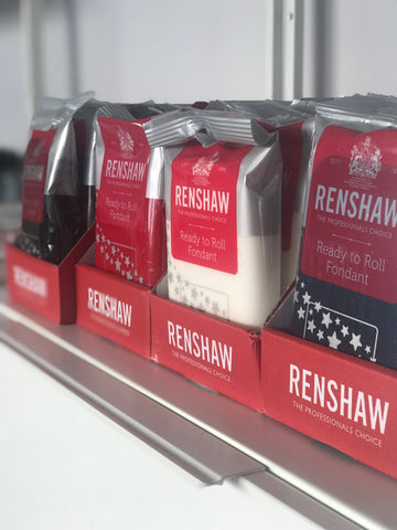 Renshaw Fondant 250 Gram Packs in Red - Black - Navy Blue and WHite