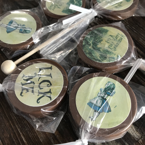 Alice in Wonderland Candy Lollipops