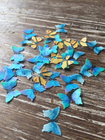 Edible Realistic Miniature Butterflies on Wafer Paper - Never Forgotten Designs