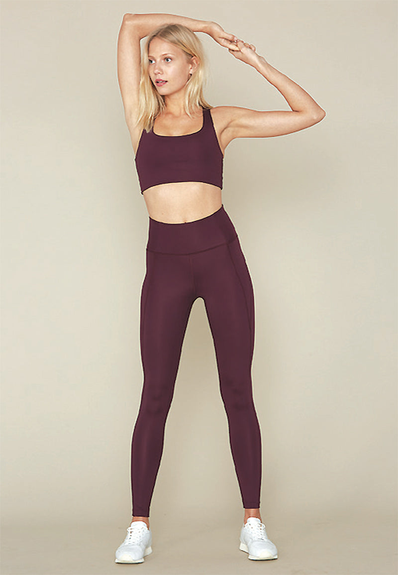 Compressive high waist Legging plum