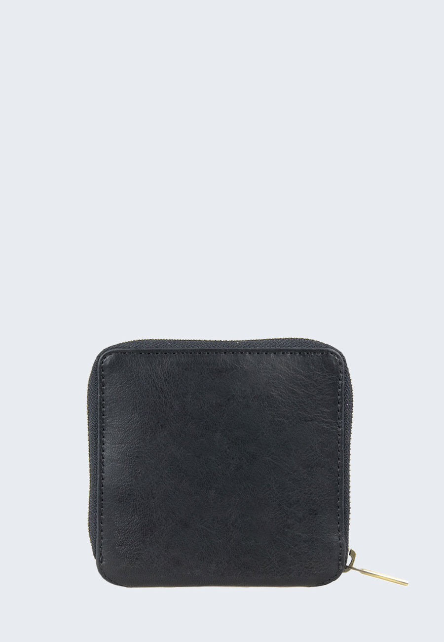 Sonny Square Wallet - Black