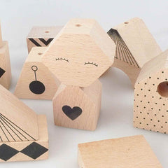 OYOY Puzzle Me Wooden Block/Mobile