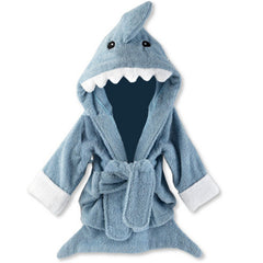 Let the Fin Begin - Terry Shark Bath Robe Blue