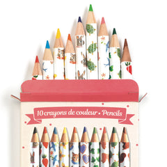 Djeco 10 Aiko Mini Color Pencils