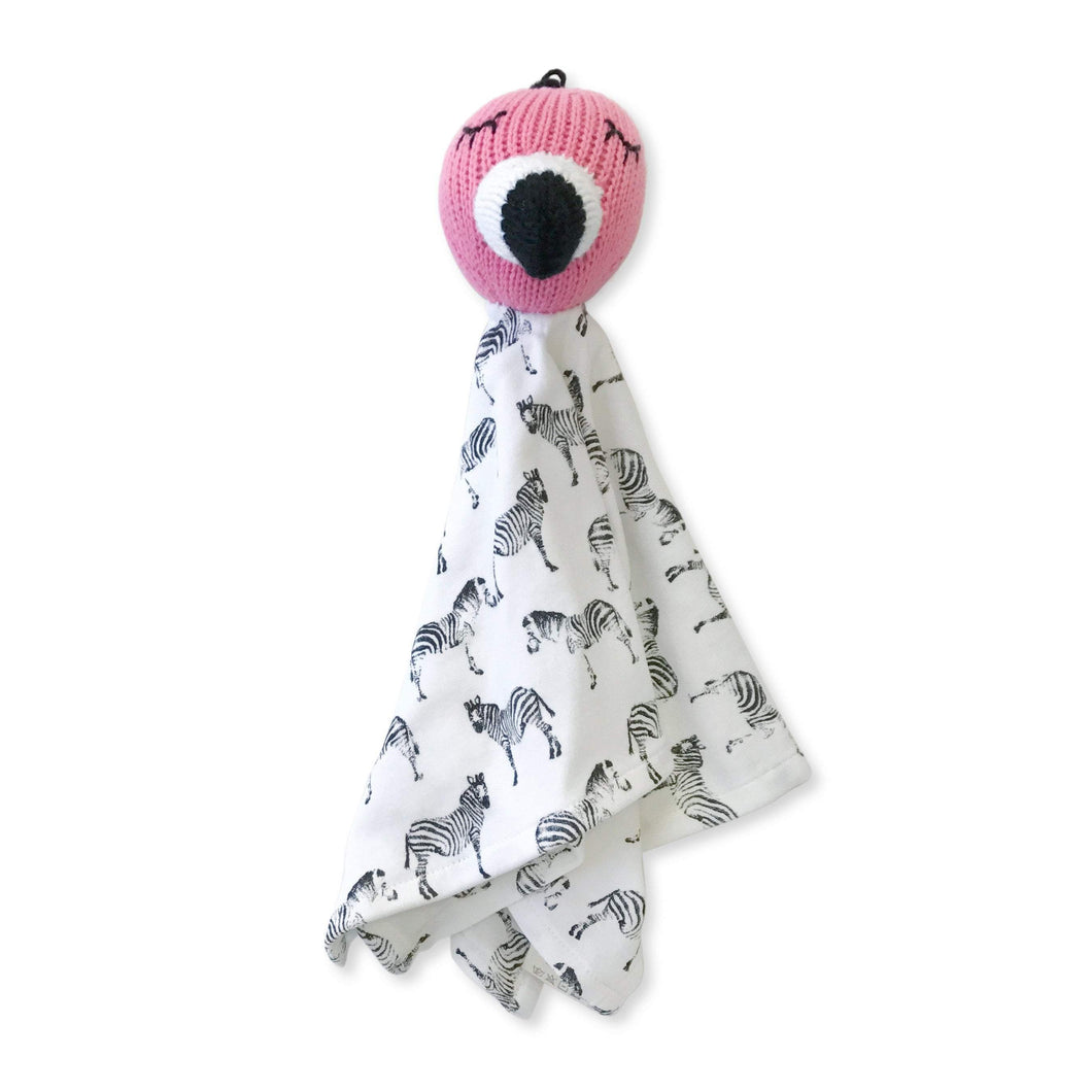 rattle lovie | zoe the flamingo and zebra