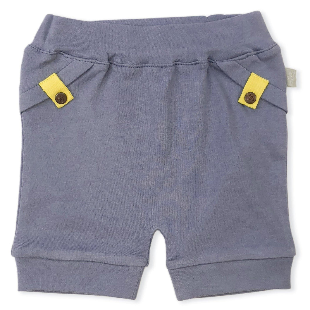 pull-up shorts | stonewash