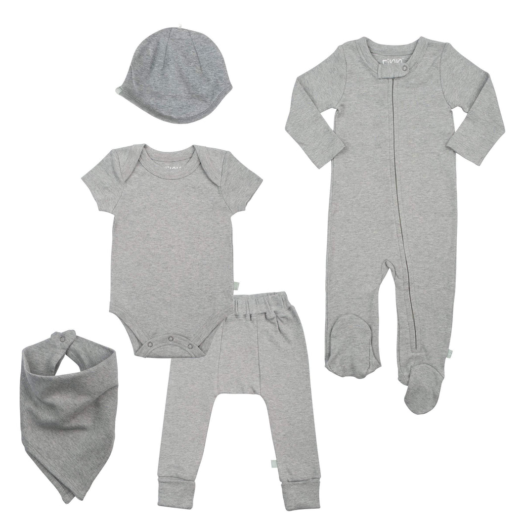 basics bundle set | heather gray