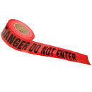 "3X1000' RED ""DANGER DO NOT ENTER"" BARRICADE TAPE"