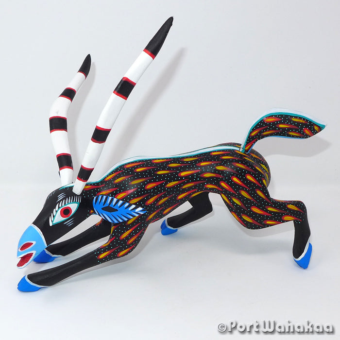 Fire Drop Gazelle Oaxacan Carving Artist - Antonio Carrillo Port Wahakaa Antelope, Carving Medium Large, Gazelle, Venado
