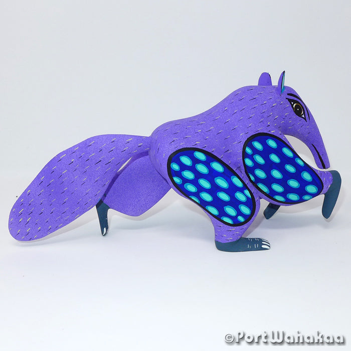 Expeditious Anteater Oaxacan Carving Artist - Angel Ramirez Port Wahakaa Anteater, Carving Medium Large, Oso Homiguero