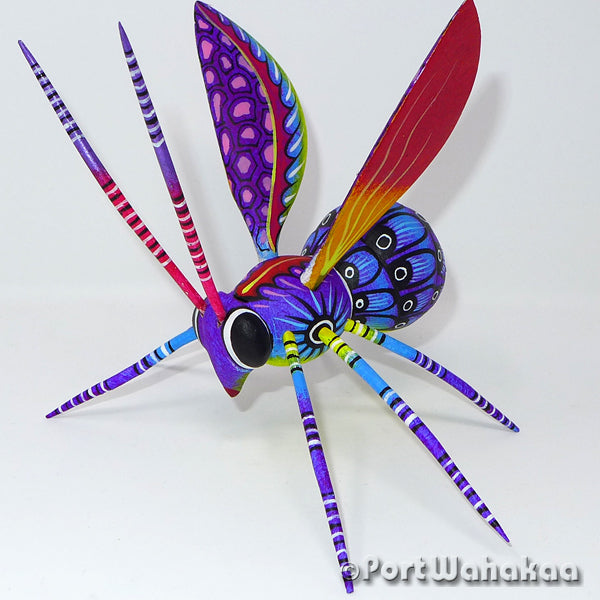 Indigotin Honeybee - Oaxaca Wood Carving Alebrijes Animal Mexican Copal