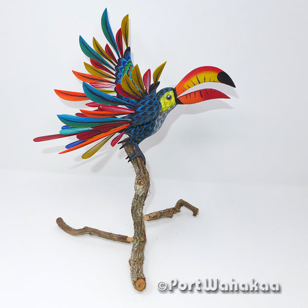 Toco Toucan Tropical - Oaxaca Wood Carving Alebrijes Animal Mexican Copal