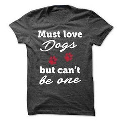 Must Love Dogs T-shirt- Charcoal Black- Triblend