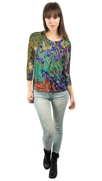 Vincent Van Gogh - Irises (1889) Womens 3/4 Sleeve