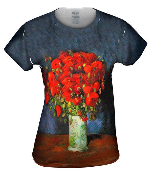 "Van Gogh -""Vase with red Poppies"" (1886) Womens Top"