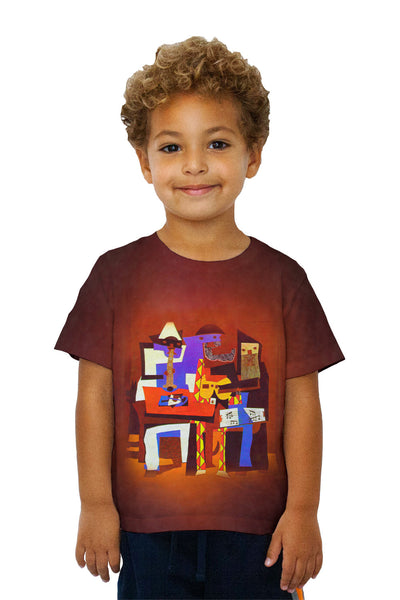 "Kids Pablo Picasso - ""Three Musicians"" (1921) Kids T-Shirt"