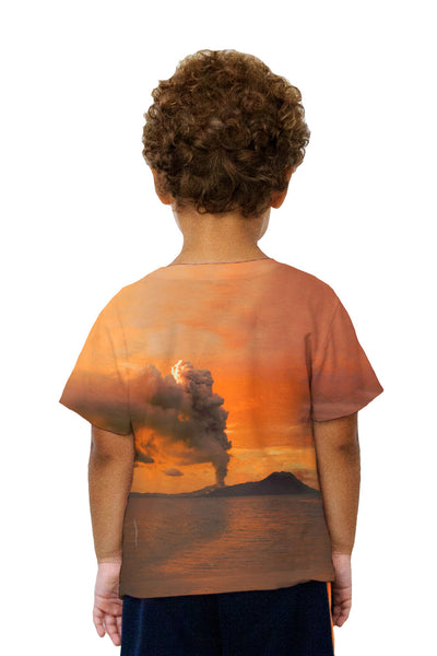 Kids Volcano Eruption Tavurvur Kids T-Shirt