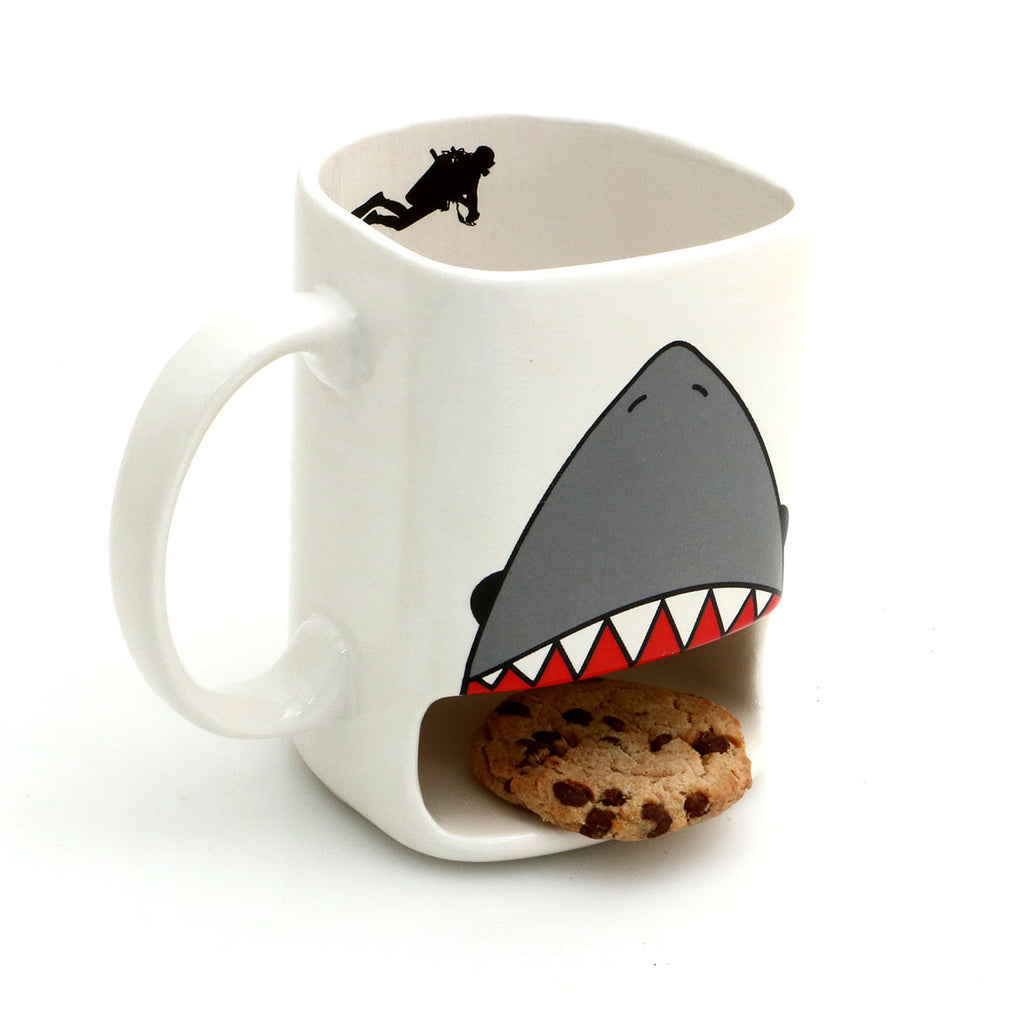 Know someone with a sweet tooth and a love of toothy fish? This is a handmade mug created in my New