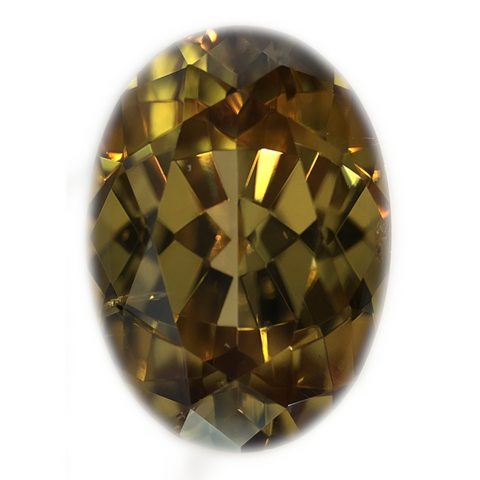 Zircon Gemstone Oval Cut By Ben Kho