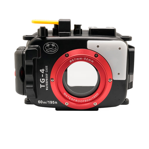 Olympus TG-3 & TG-4 60m/195ft SeaFrogs Underwater Camera Housing (Black)