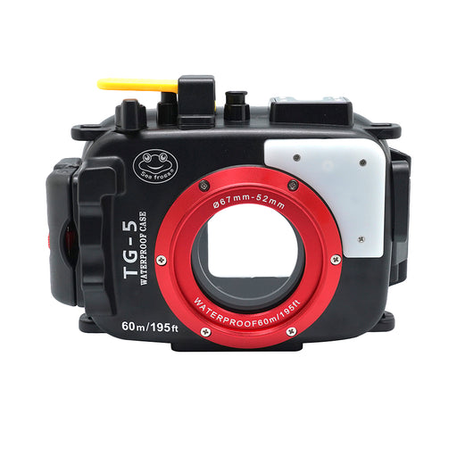 Olympus TG-5 60m/195ft SeaFrogs Underwater Camera Housing (Black)