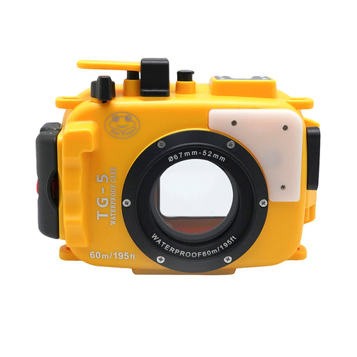 Olympus TG-5 60m/195ft SeaFrogs Underwater Camera Housing (Yellow)