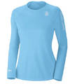 Coastal Waters Crew Neck Women's UPF 50 Sun Protection Tee- Sky Blue