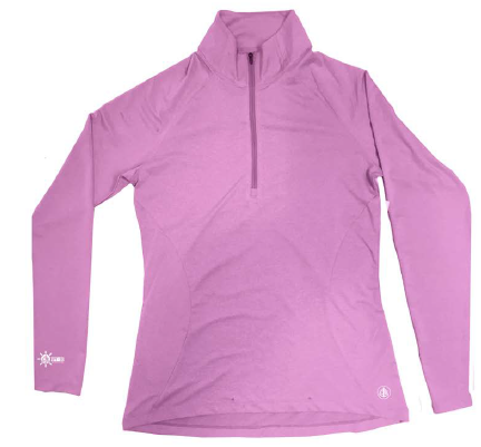 Coastal Waters Women's 1/4 Zip Sun Protection Pullover - Pink