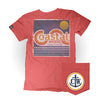 Vintage Coastal Waters Pocket Tee Faded Red