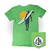 Surfer Coastal Waters Pocket Tee Greenery