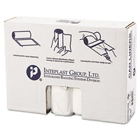 Inteplast Group High-Density Interleaved Commercial Can Liners 33 x 40, 33gal, 16mic, Clear, 25/Roll, 10 Rolls/Carton