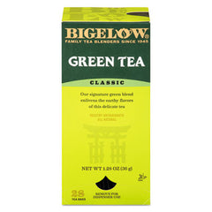 Bigelow® Single Flavor Tea Bags Green, 28 Bags/Box