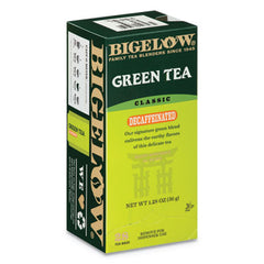 Bigelow® Decaffeinated Green Tea, Green Decaf, 0.34 lbs, 28/Box