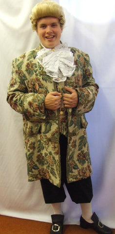 18th Century Floral Brockade Frockcoat ~ Pirate ~ Hook  ~ Prince ~ Hire ~ 46
