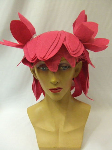 Cosplay ~ Anime ~ Pink felt wig ~ Cartoon ~ bunches ~ Fraggle ~ muppet ~ Lazy town