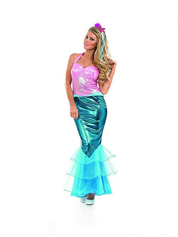 Mermaid ladies  Fancy Dress  Ariel World book day  small  size 8 - 10