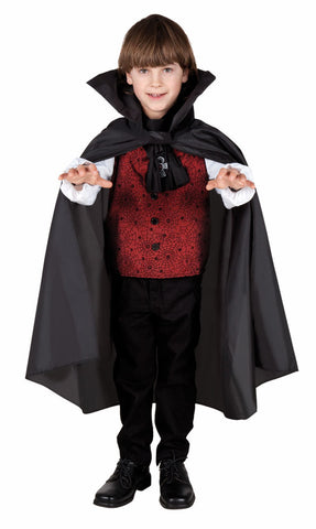 Black Cape Childrens one size Halloween Dracula Vampire Witch Superhero