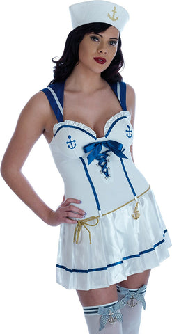 Sailor Girl Fancy Dress  Nautical uniform  Size S 10 ~ 12