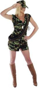 Army Girl Costume  Camouflage  Army  Military  Uniform XS  Size 6 - 8