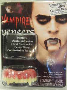 Vampire Veneers with Dental Putty  Teeth  Halloween  Blade fangs