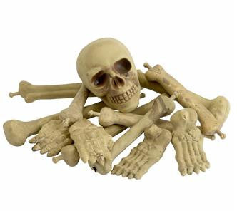 Bag of Bones ~ Halloween ~ Decoration ~ Skull ~ Skeleton ~ 12 piece Set
