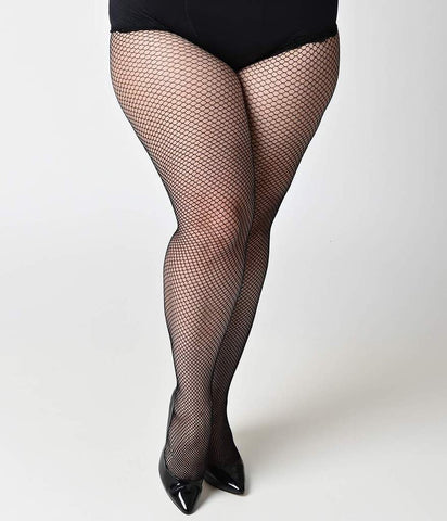 Black fishnet tights Plus size - XL - Dance - Stage