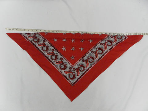 Bandana Extra large size Red White and Black Western Pirate Biker